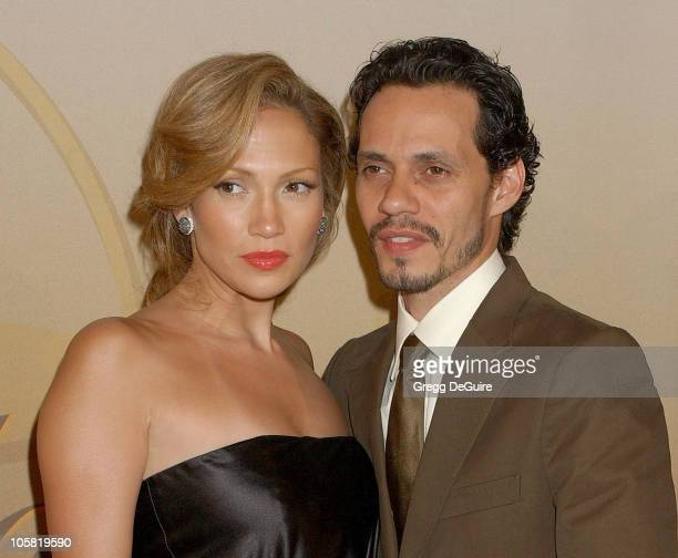 Jennifer Lopez and Marc Anthony during 2006 Women In Film Crystal + Lucy Awards - Arrivals at Century Plaza Hotel in Century City, California, United...