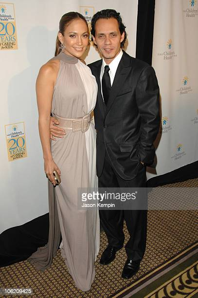 Jennifer Lopez and Marc Anthony during 20th Annual Childrens Fund Gala Arrivals May 30 2007 at The Hilton Hotel in New York City New York United...