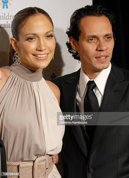 Jennifer Lopez and Marc Anthony during 20th Annual Childrens Fund Gala Arrivals at Hilton Hotel in New York City New York United States