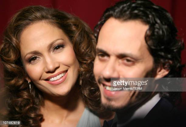Jennifer Lopez and Marc Anthony during Singers and Songs Celebrate Tony Bennett's 80th to Benefit Paul Newman's Hole in the Wall Camps - Arrivals at...