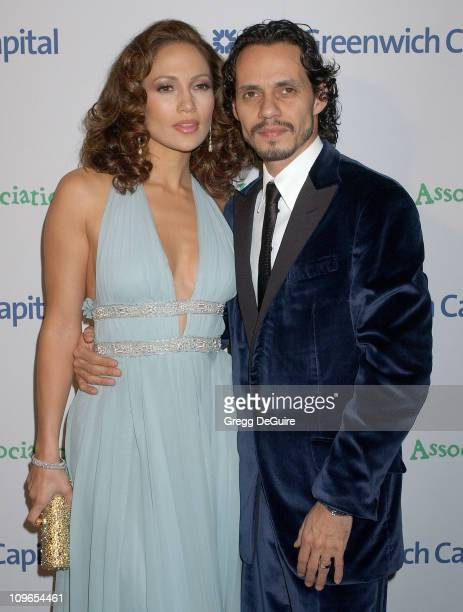 Jennifer Lopez and Marc Anthony during Singers and Songs Celebrate Tony Bennett's 80th to Benefit Paul Newman's Hole in the Wall Camps Arrivals at...