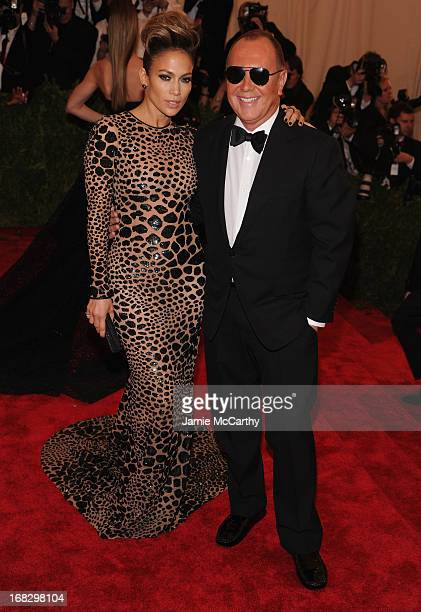 Jennifer Lopez and Michael Kors attends the Costume Institute Gala for the 'PUNK Chaos to Couture' exhibition at the Metropolitan Museum of Art on...