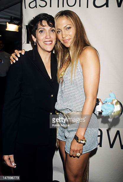Jennifer Lopez and Mom during 2000 VH1 Vogue Fashion Awards Arrivals at Madison Square Garden in New York City New York United States