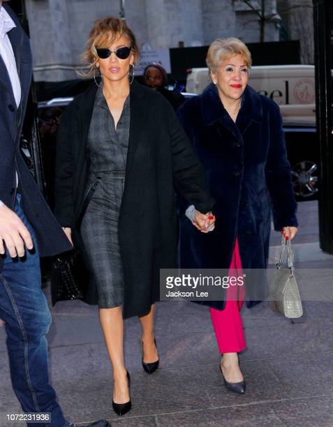 Jennifer Lopez and mom Guadalupe Rodriguez out and about on Guadalupe's birthday on December 12 2018 in New York City