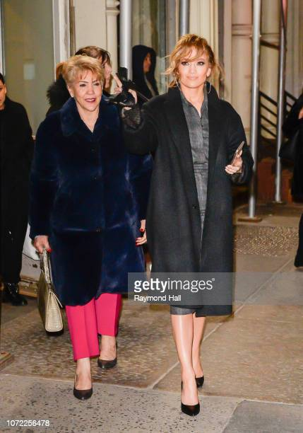 Jennifer Lopez and mother Guadalupe Rodriguez are seen on December 12 2018 in New York City