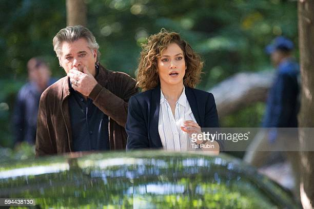 Jennifer Lopez and Ray Liotta are seen at the film set of Shades of Blue in Prospect Park on August 23 2016 in New York City