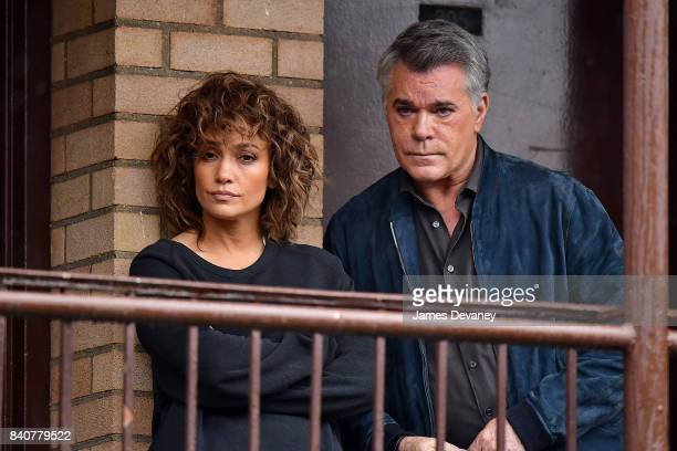 Jennifer Lopez and Ray Liotta seen on location for 'Shades of Blue' in Manhattan on August 29 2017 in New York City