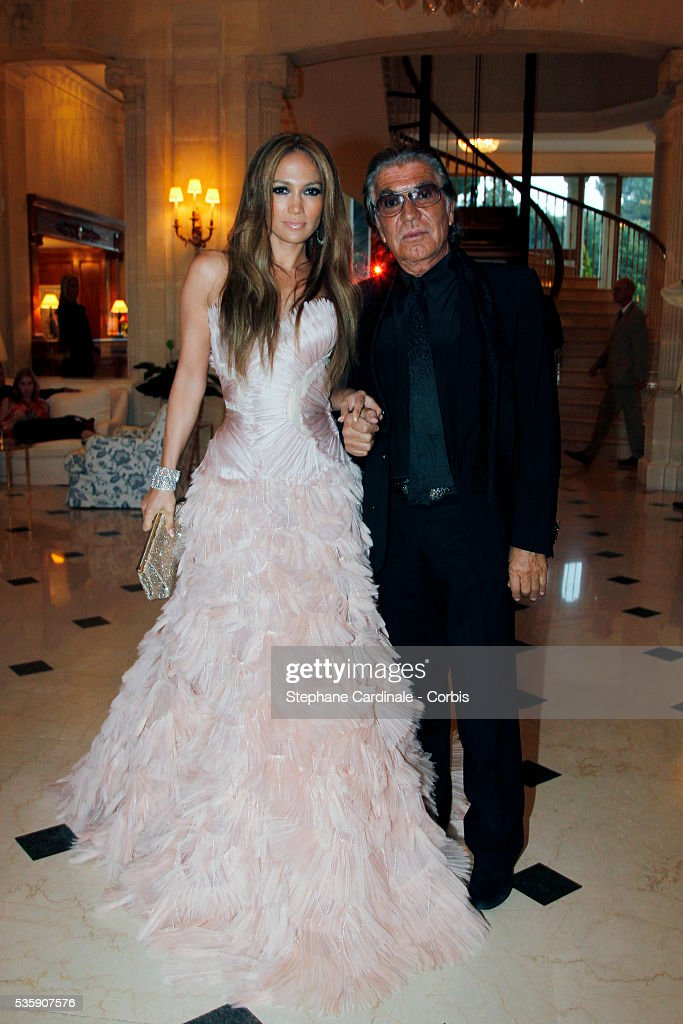 Jennifer Lopez and Roberto Cavalli attends the '2010 amfAR's Cinema Against AIDS Gala'