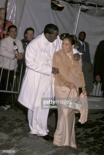 Jennifer Lopez and Sean P Diddy Combs at the Metropolitan Museum of Art in New York City New York