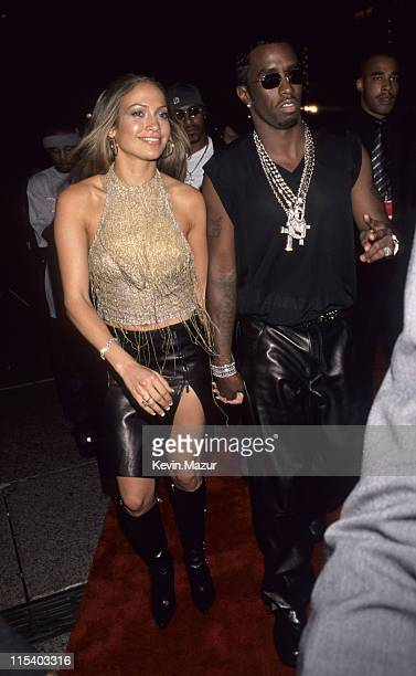Jennifer Lopez and Sean Puffy Combs during The 1999 MTV Video Music Awards at Metropolitan Opera House in New York City New York United States