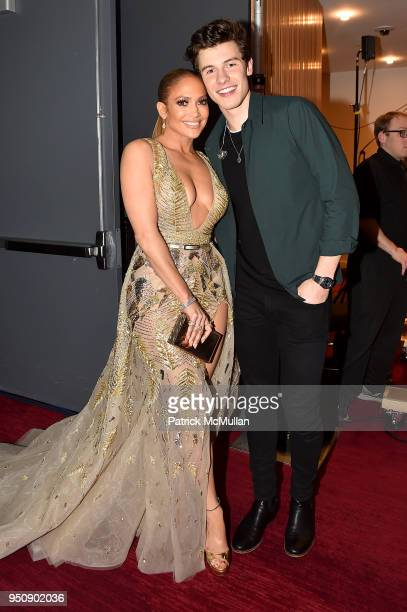Jennifer Lopez and Shawn Mendes attend the 2018 TIME 100 Gala at Jazz at Lincoln Center on April 24 2018 in New York City