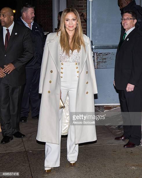 Jennifer Lopez arrives at 92Y on November 6, 2014 in New York City.