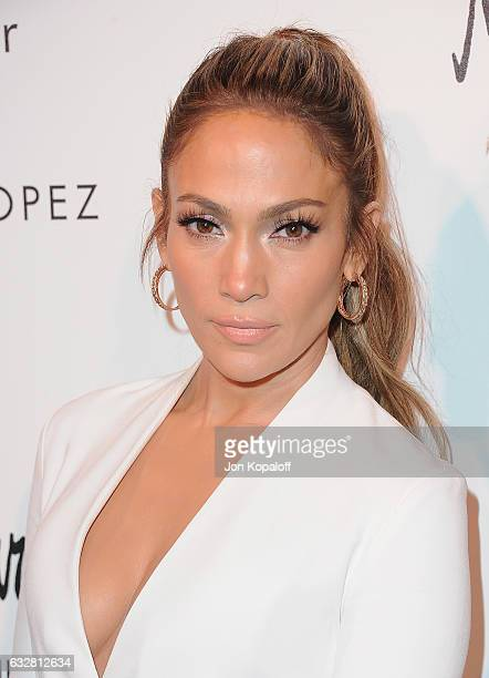 Jennifer Lopez arrives at Jennifer Lopez And Giuseppe Zanotti Celebrate Their New Shoe Collaboration at Neiman Marcus on January 26 2017 in Beverly...