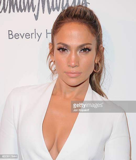 Jennifer Lopez arrives at Jennifer Lopez And Giuseppe Zanotti Celebrate Their New Shoe Collaboration at Neiman Marcus on January 26 2017 in Beverly...