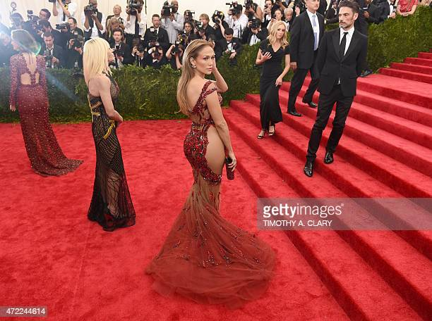Jennifer Lopez arrives at the 2015 Metropolitan Museum of Art's Costume Institute Gala benefit in honor of the museums latest exhibit China Through...