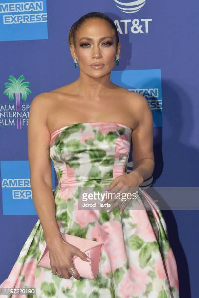 Jennifer Lopez arrives at the 2020 Annual Palm Springs International Film Festival Film Awards Gala on January 02, 2020 in Palm Springs, California.