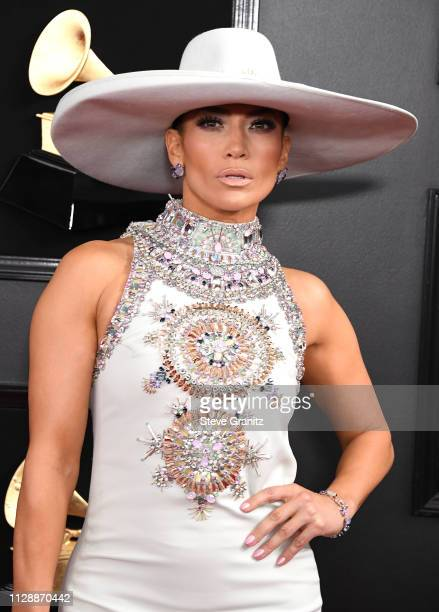 Jennifer Lopez arrives at the 61st Annual GRAMMY Awards at Staples Center on February 10 2019 in Los Angeles California