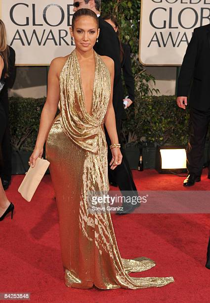 Jennifer Lopez arrives at The 66th Annual Golden Globe Awards at The Beverly Hilton Hotel on January 11 2009 in Hollywood California