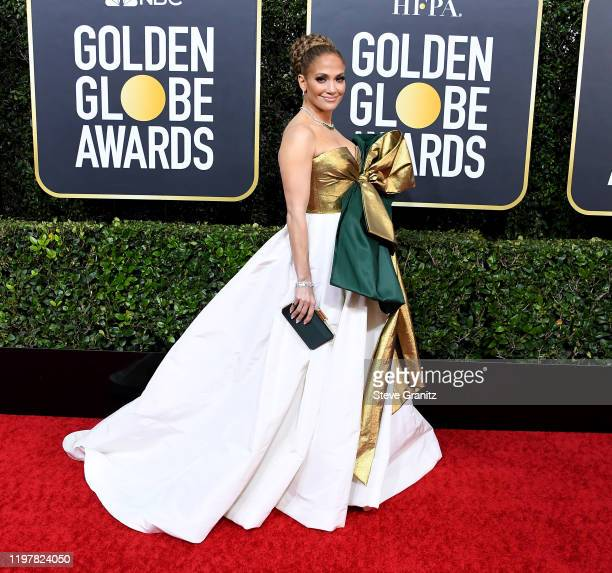 Jennifer Lopez arrives at the 77th Annual Golden Globe Awards attends the 77th Annual Golden Globe Awards at The Beverly Hilton Hotel on January 05...
