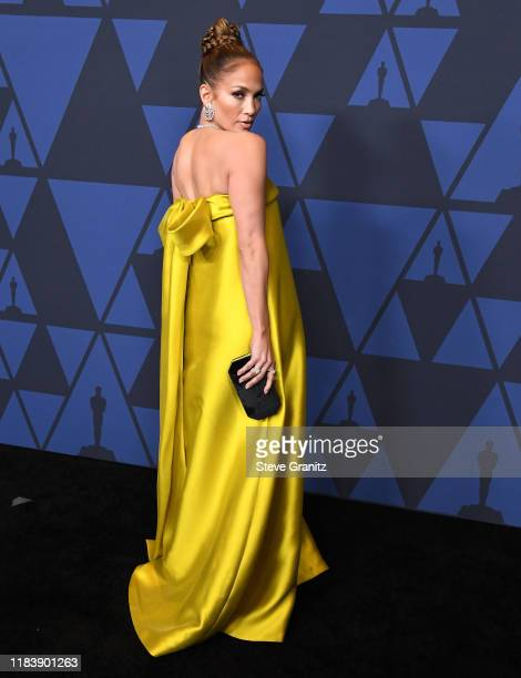 Jennifer Lopez arrives at the Academy Of Motion Picture Arts And Sciences' 11th Annual Governors Awards at The Ray Dolby Ballroom at Hollywood...