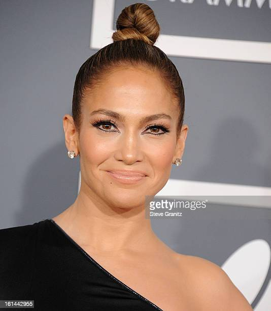 Jennifer Lopez arrives at the The 55th Annual GRAMMY Awards on February 10 2013 in Los Angeles California
