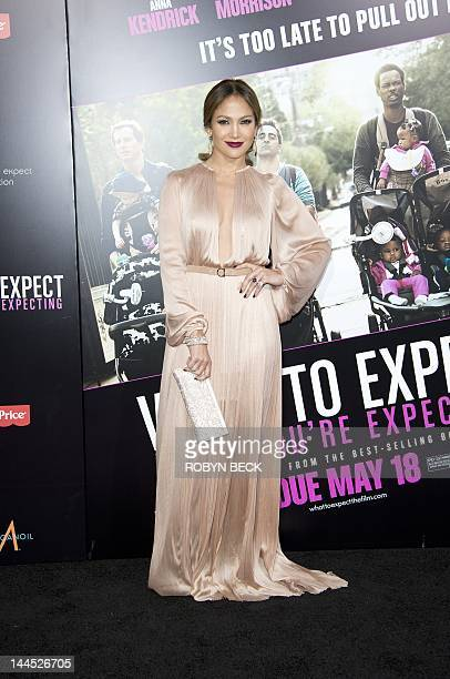 Jennifer Lopez arrives for the premiere of What To Expect When You Are Expecting May 14 2012 at Grauman's Chinese Theatre in Hollywood California AFP...