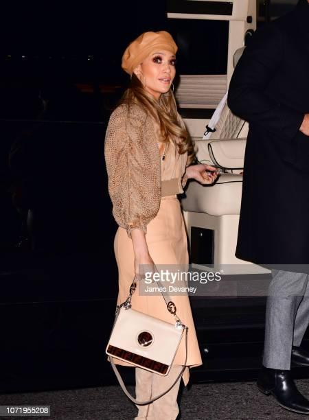 Jennifer Lopez arrives to AMC Bay Plaza Cinema 13 in the Bronx on December 11, 2018 in New York City.