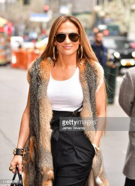 Jennifer Lopez arrives to Manhattan Center on April 9, 2019 in New York City.