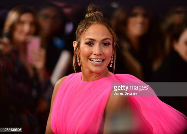 Jennifer Lopez arrives to Regal Union Square Theatre Stadium 14 for the world premiere of 'Second Act' on December 12 2018 in New York City