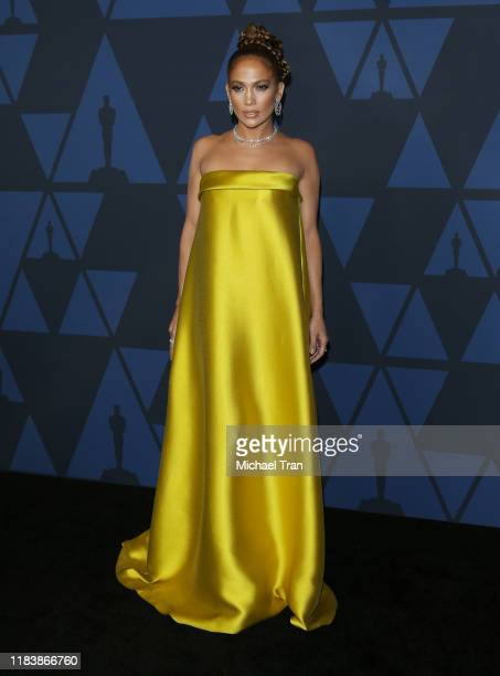 Jennifer Lopez arrives to the Academy of Motion Picture Arts and Sciences' 11th Annual Governors Awards held at The Ray Dolby Ballroom at Hollywood...