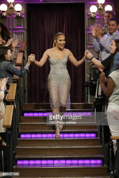 Jennifer Lopez arrives to The Late Late Show with James Corden Thursday May 4 2017 On The CBS Television Network