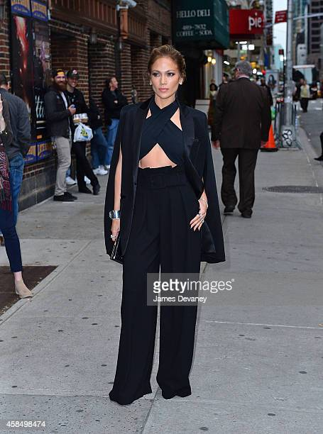Jennifer Lopez arrives to the 'Late Show With David Letterman' at Ed Sullivan Theater on November 5 2014 in New York City