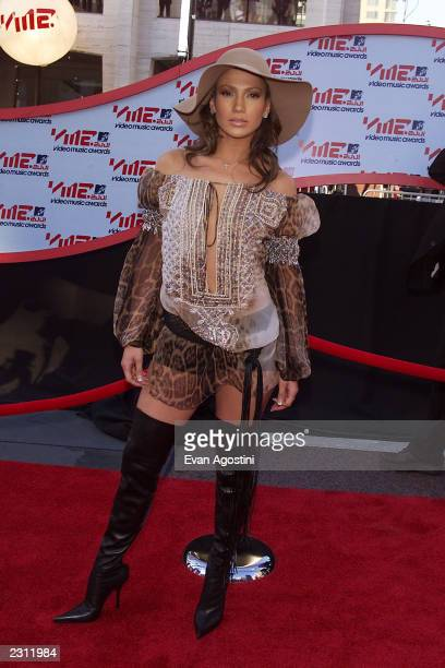 Jennifer Lopez arriving at the 2001 MTV Video Music Awards held at the Metropolitan Opera House at Lincoln Center in New York City 9/6/01 Photo by...