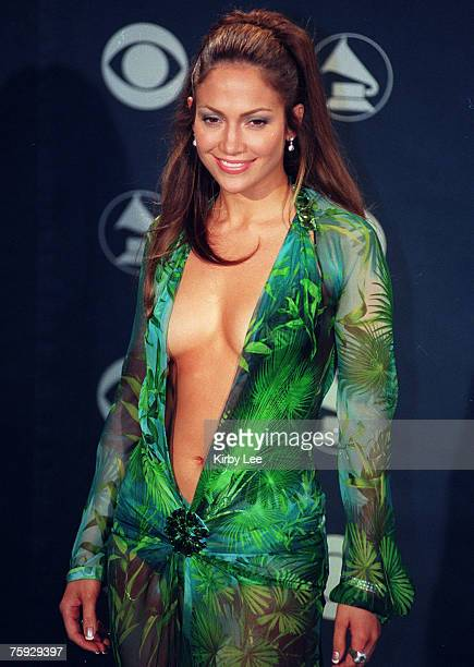 Jennifer Lopez at the 42nd Grammy Awards at the Staples Center on Feb. 23, 2000 in Los Angeles, Calif.