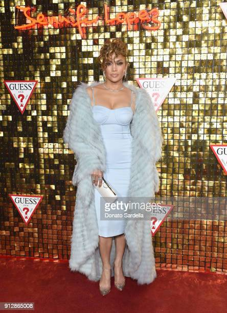 Jennifer Lopez at the Guess Spring 2018 Campaign Reveal starring Jennifer Lopez on January 31 2018 in Los Angeles California
