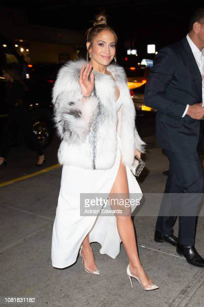 Jennifer Lopez at the party for the premiere of Second Act on December 12 2018 in New York City