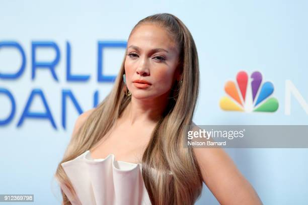 Jennifer Lopez attends a photo op for NBC's 'World Of Dance' at NBC Universal Lot on January 30 2018 in Universal City California