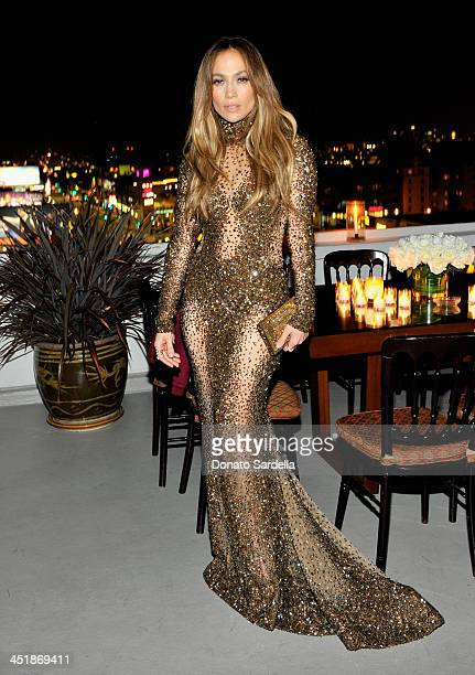 Jennifer Lopez attends a private dinner in her honor hosted by Dean and Dan of Dsquared2 at Chateau Marmont on November 24 2013 in Los Angeles...