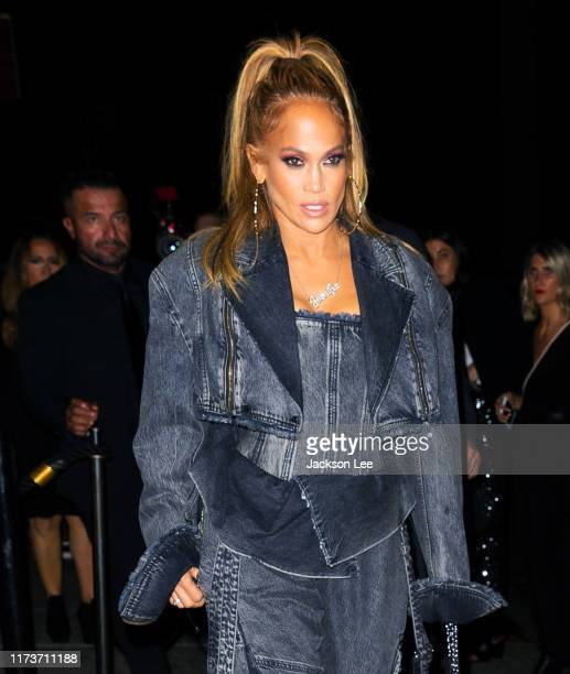 Jennifer Lopez attends a screening for her new movie 'Hustlers' on September 10 2019 in New York City