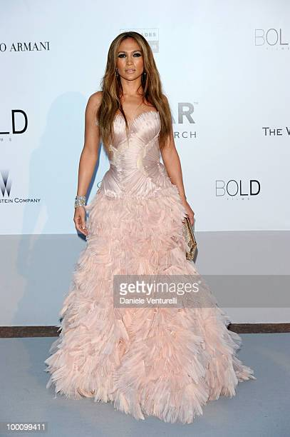 Jennifer Lopez attends amfAR's Cinema Against Aids Gala at the Hotel Du Cap during the 63rd International Cannes Film Festival on May 20, 2010 in...