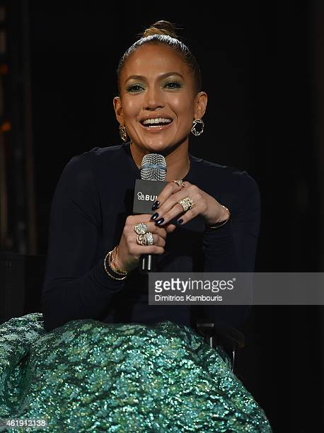 Jennifer Lopez attends AOL Build Speaker Series Jennifer Lopez And Ryan Guzman at AOL Studios In New York on January 21 2015 in New York City