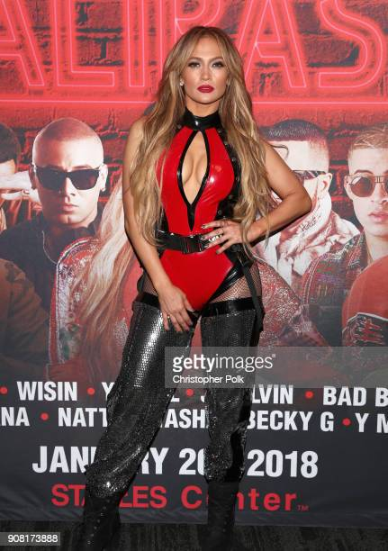 Jennifer Lopez attends Calibash Los Angeles 2018 at Staples Center on January 20, 2018 in Los Angeles, California.