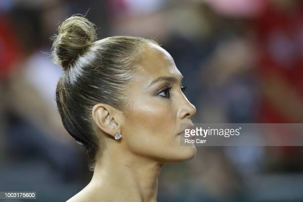 Jennifer Lopez attends during the 89th MLB AllStar Game presented by Mastercard at Nationals Park on July 17 2018 in Washington DC