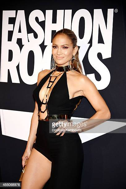 Jennifer Lopez attends Fashion Rocks 2014 presented by Three Lions Entertainment at the Barclays Center of Brooklyn on September 9 2014 in New York...
