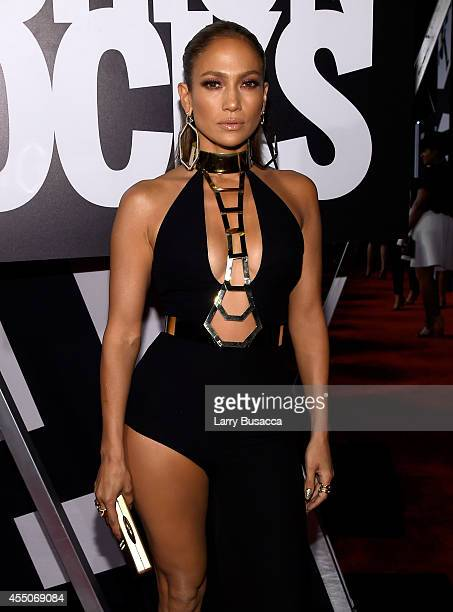Jennifer Lopez attends Fashion Rocks 2014 presented by Three Lions Entertainment at the Barclays Center of Brooklyn on September 9, 2014 in New York...