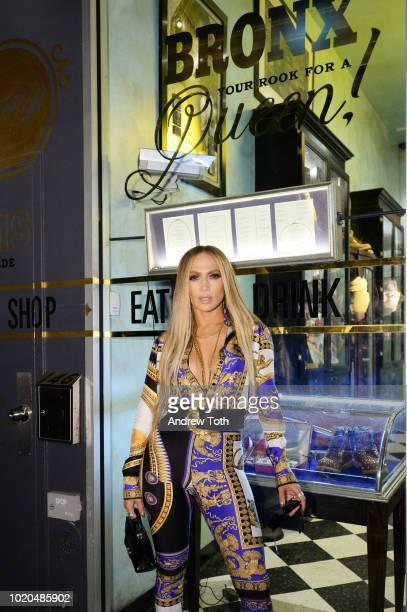 Jennifer Lopez attends Jennifer Lopez's MTV VMA's Vanguard Award Celebration at Beauty Essex on August 21 2018 in New York City