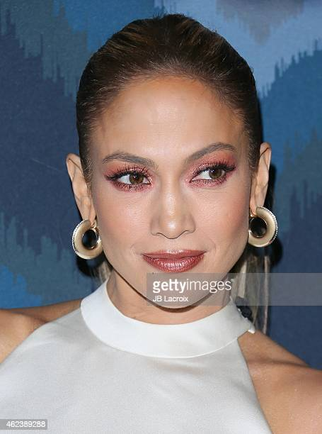 Jennifer Lopez attends the 2015 Fox AllStar Party at the Langham Hotel on January 17 2015 in Pasadena California