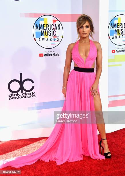 Jennifer Lopez attends the 2018 American Music Awards at Microsoft Theater on October 9 2018 in Los Angeles California