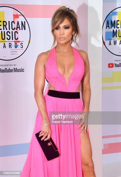 Jennifer Lopez attends the 2018 American Music Awards at Microsoft Theater on October 09, 2018 in Los Angeles, California.