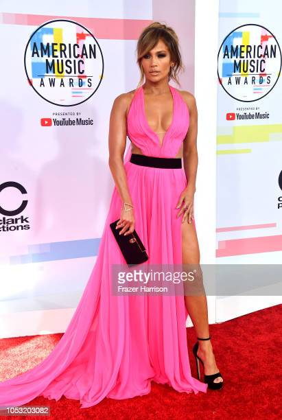 Jennifer Lopez attends the 2018 American Music Awards at Microsoft Theater on October 09 2018 in Los Angeles California
